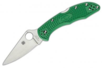 Складной нож Delica 4 Lightweights (VG-10, Green FRN) Spyderco