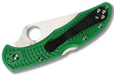 Складной нож Delica 4 Lightweights (VG-10, Green FRN) Spyderco, сложен