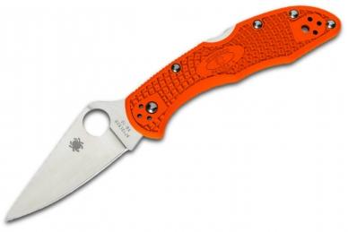 Складной нож Delica 4 Lightweights (VG-10, Orange FRN) Spyderco