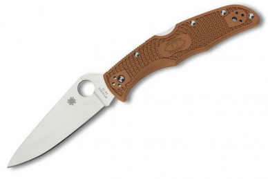Складной нож Endura 4 Lightweights (VG-10, Brown FRN) Spyderco