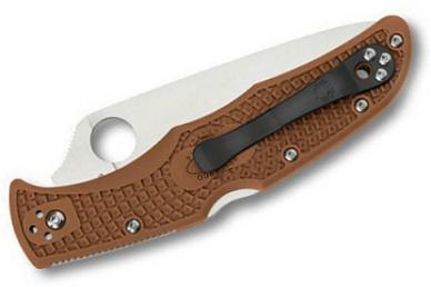 Складной нож Endura 4 Lightweights (VG-10, Brown FRN) Spyderco, сложен