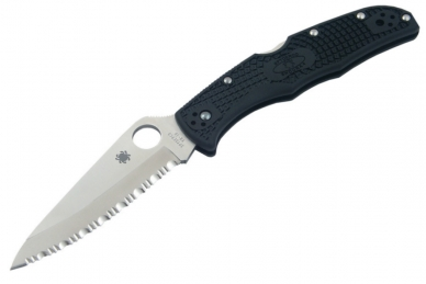 Складной нож Endura 4 (VG-10, Serrated, Black FRN) Spyderco