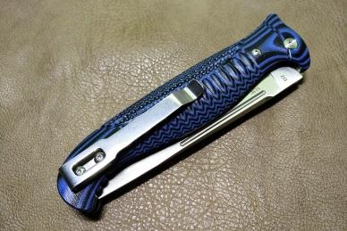 """Нож складной """"Финка-03"""" Reptilian сложен"""