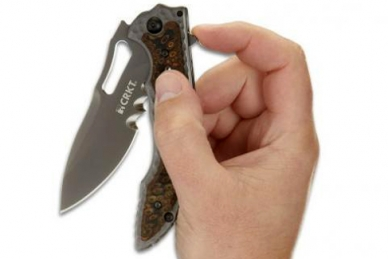 Складной нож Fossil Black Veff Serrations CRKT