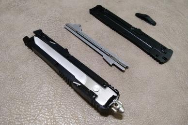 Складной нож (фронтальный) MIC-02 Steelclaw, разобран