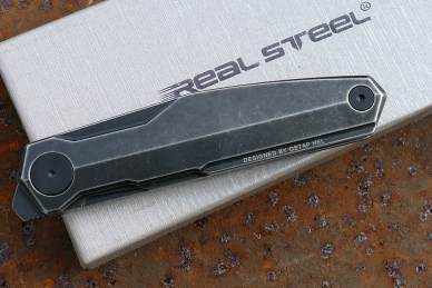 Нож складной G3 «Puukko» (blackwash) Real Steel, клипса