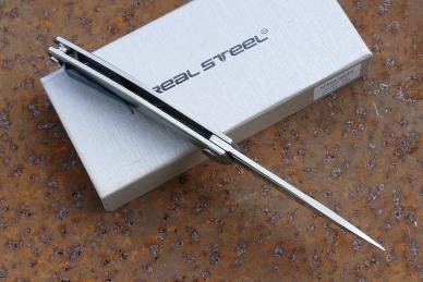 "Нож складной G3 ""Puukko"" (duplex) Real Steel, со стороны обуха"
