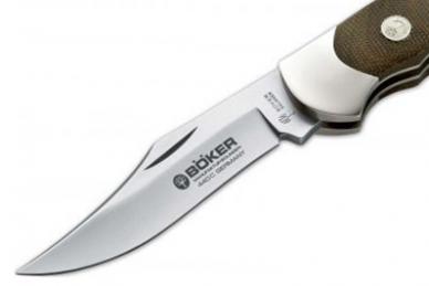 Клинок ножа складной Optima Green Canvas Böker, Германия