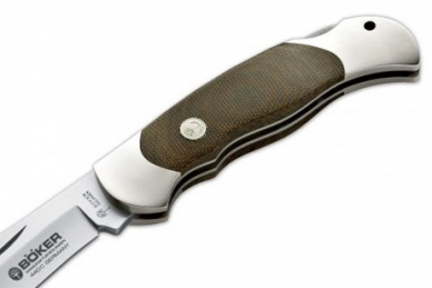 Рукоять ножа складной Optima Green Canvas Böker, Германия
