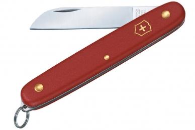 Нож складной садовый Floral с кольцом (красный) Victorinox