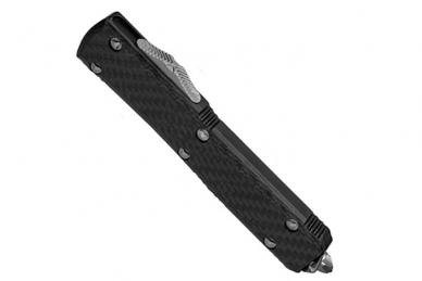 Нож автоматический Ultratech (Tanto Edge, Black Blade, Carbon Fiber) Microtech