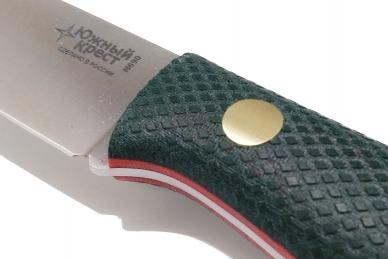 Нож Slender M N690 (зеленая микарта с оружейной насечкой)