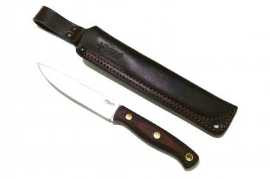 Нож Slender M N690 (красно-чёрная микарта с оружейной насечкой) Южный Крест, Рос