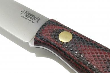 Нож Slender M N690 (красно-чёрная микарта с оружейной насечкой)