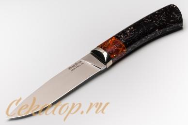 """Нож """"Слон"""" Нсм7 (сталь 440C, черно-оранжевый акрил) Ясный Сокол"""