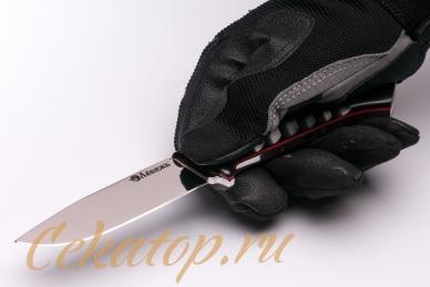 Нож «Соколиный Глаз» (сталь K110, черный G-10) Лебежь, хват снизу