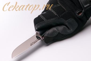Нож «Соколиный Глаз» (сталь K110, черный G-10) Лебежь, хват сверху