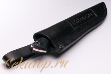 Нож «Соколиный Глаз» (сталь K110, черный G-10) Лебежь, ножны