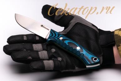 Нож «Соколиный Глаз» (сталь N690, черно-синий G-10) Лебежь