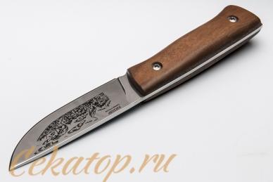 """Нож """"Стерх-1"""" (клинок с рисунком, дерево) Кизляр, Россия"""