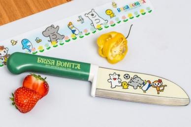 Яркий нож детский Brisa Bonita 115 мм (зеленая рукоять), Tojiro, Япония