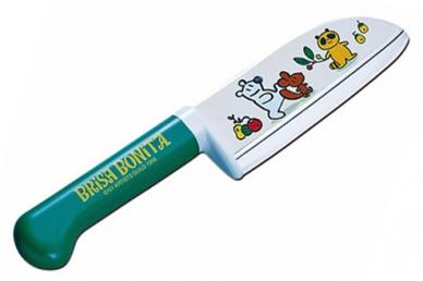 Нож детский Brisa Bonita 115 мм (зеленая рукоять), Tojiro, Япония