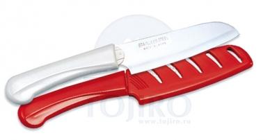 Special Series FK-431 нож для чистки овощей и фруктов в ножнах (красный)