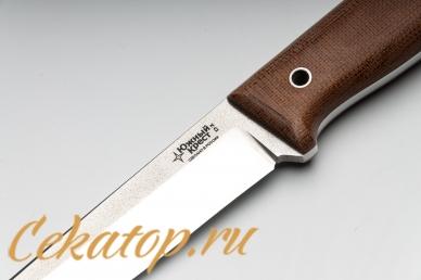 Нож Тундра М (D2, микарта) Южный Крест, логотип