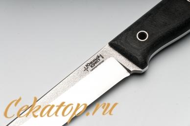 Нож Тундра (N690, серая микарта) Южный Крест, логотип