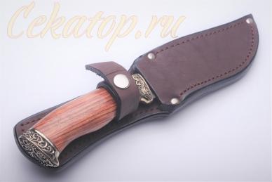 Нож Ворон (литой булат) Алексей Фурсач в ножнах