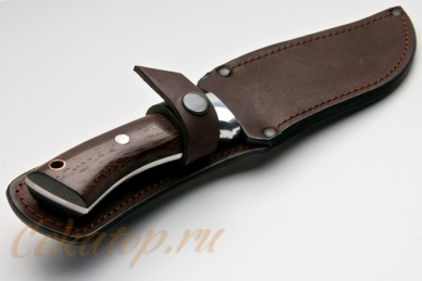 Нож в ножнах Тигр (95Х18, полный хвостовик) Алексей Фурсач (Ворсма)