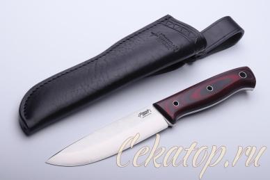 Нож X (D2, черно-красный G-10) с ножнами