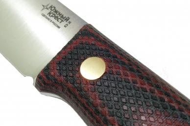 Нож X D2 (красно-чёрная микарта с оружейной насечкой) Южный Крест