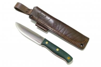 Нож X N690 (зелёная микарта с оружейной насечкой) Юж. Крест, Россия