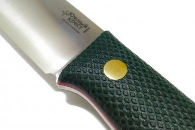 Нож X N690 (зелёная микарта с оружейной насечкой)