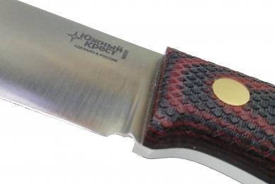 Нож XL N690 (красно-чёрная микарта с оружейной насечкой) Южный Крест, Россия