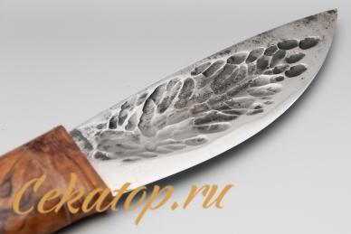 """Клинок ножа """"Якутский скиннер"""" (кованый дол, стаб древесина) Игорь Шилин"""