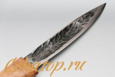 """Клинок ножа """"Якутский средний"""" (кованый дол, карел.береза) Игорь Шилин"""