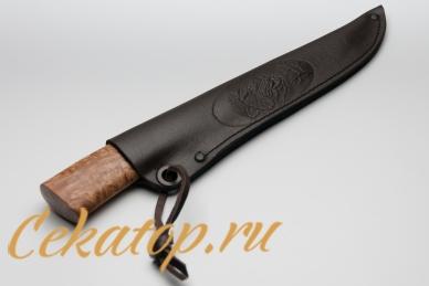 """Ножны для ножа """"Якутский средний"""" (кованый дол, стаб.древесина) Игорь Шилин"""