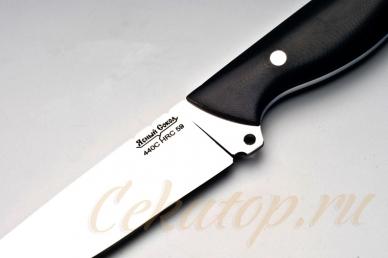 """Нож """"Ясень"""" (сталь 440C) Ясный Сокол, Россия, логотип"""