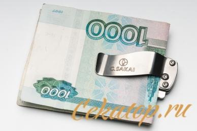 Нож-зажим для денег «Carp Koi» G.Sakai