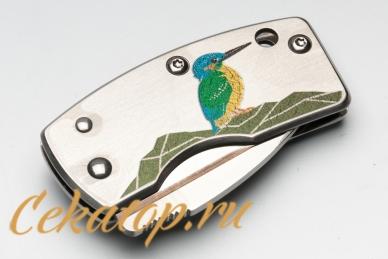 Нож-зажим для денег «Kingfisher» G.Sakai в сложенном виде