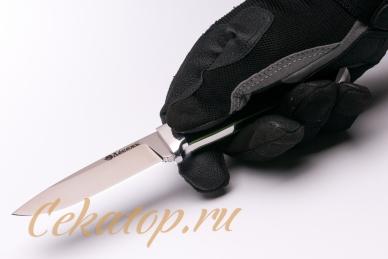 Нож «Зверобой» (сталь N690) Лебежь хват снизу