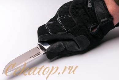 Нож «Зверобой» (сталь N690) Лебежь хват сверху