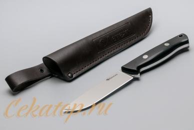 Нож и ножны Отважный (сталь 440C) Лебежь