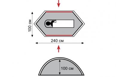 Палатка туристическая Bicycle Light Tramp, схема