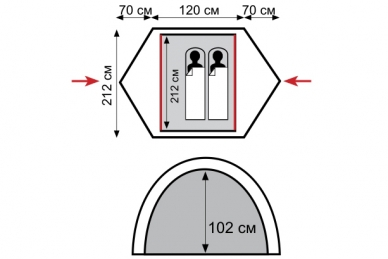 Палатка туристическая Colibri Tramp, схема