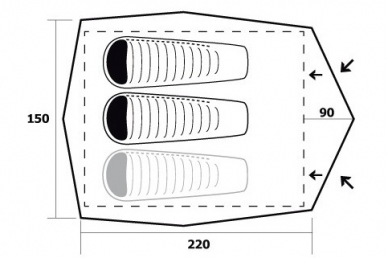 Палатка туристическая Comet Trimm, схема