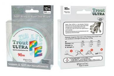 Шнур плетеный PE Trout ULTRA (0,12 мм; 12 lb / 5,6 кг) Mystic – шнур для спиннин