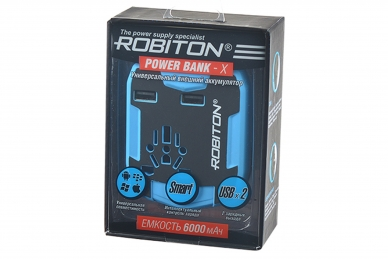 Переходник сетевой Power Bank-X Robiton, коробка